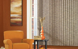 Inserted Fabric Vertical Blinds
